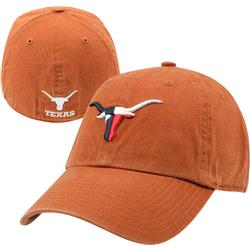 Texas Longhorns Burnt Orange Bevo Texas Flag '47 Brand Franchise Fitted Hat