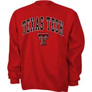 Texas Tech Red Raiders Red Tackle Twill Crewneck Sweatshirt