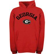Georgia Bulldogs Kids 4-7 Red Tackle Twill Hooded Sweatshirt