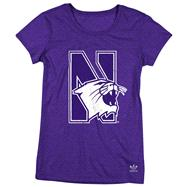 Northwestern Wildcats Women's Purple adidas Heathered Better Logo T-Shirt