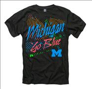 Michigan Wolverines Black Bel-Air Neon Ring Spun T-Shirt