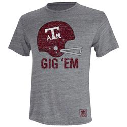 Texas A&M Aggies adidas Originals Helmet Rush Tri-Blend T-Shirt