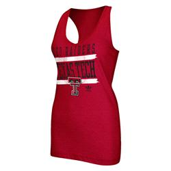 Texas Tech Red Raiders adidas Originals Women's Tilted Racer Back Tank Top