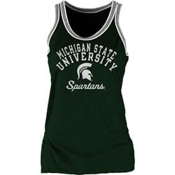 Michigan State Spartans Women's Double Ringer Tri-Blend Tank Top
