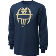 Notre Dame Fighting Irish adidas 2012 Football Sideline Helmet Long Sleeve T-Shirt - Navy
