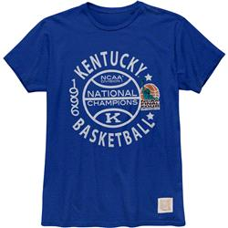 Kentucky Wildcats Retro Brand Vintage 1996 College Basketball National Champions T-Shirt