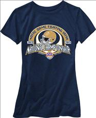 Notre Dame Fighting Irish Women's 2013 BCS National Championship Game T-Shirt