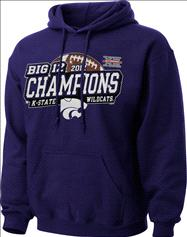 Kansas State Wildcats 2012 Big 12 Conference Football Champions Sparkle Hooded Sweatshirt