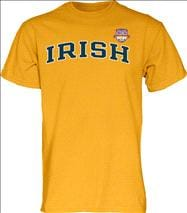 Notre Dame Fighting Irish 2013 BCS National Championship Game Irish Arch T-Shirt - Gold
