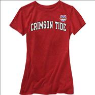 Alabama Crimson Tide Women's 2013 BCS National Championship Game Tide Arch V-Neck T-Shirt - Cardinal
