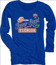 Florida Gators Women's 2013 Sugar Bowl Bound Scoopneck Long Sleeve T-Shirt