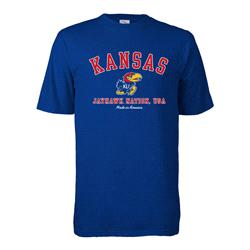 Kansas Jayhawks Hometown Made in America T-Shirt - Royal