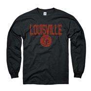Louisville Cardinals Black Dimension Basketball Long Sleeve T-Shirt