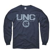 North Carolina Tar Heels Navy Dimension Basketball Long Sleeve T-Shirt