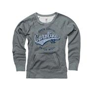 North Carolina Tar Heels Grey Women's Swept Up Scoop Neck Sweatshirt