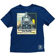 Michigan vs. Notre Dame Navy adidas Taking The Train Super Soft T-Shirt