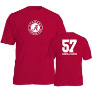 Marcell Dareus #57 Name and Number Alabama Crimson Tide T-Shirt