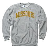 Missouri Tigers Grey Arch Crewneck Sweatshirt