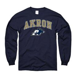 Akron Zips Navy Perennial II Long Sleeve T-Shirt