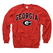 Georgia Bulldogs Red Perennial II Crewneck Sweatshirt