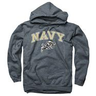 Navy Midshipmen Dark Heather Perennial II Hooded Sweatshirt