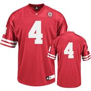 Nebraska Cornhuskers Football Jersey: adidas #4 Red Replica Football Jersey