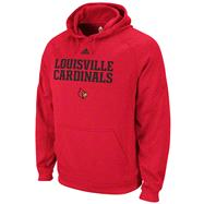 Louisville Cardinals Red adidas Practice Stitch ClimaWarm Hooded Sweatshirt