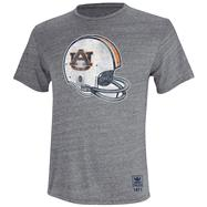 Auburn Tigers Heather Grey adidas Originals Big Retro Helmet Tri-Blend T-Shirt