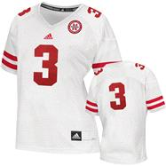Nebraska Cornhuskers Women's Football Jersey: adidas # White Replica Football Jersey