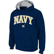 Navy Midshipmen Navy Twill Arch Hooded Sweatshirt