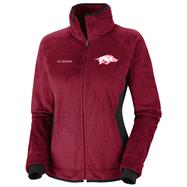 Arkansas Razorbacks Women's Dark Red Columbia Pearl Plush II Fleece Jacket