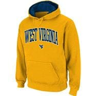 West Virginia Mountaineers Gold Twill Arch Hooded Sweatshirt