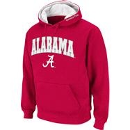 Alabama Crimson Tide Crimson Twill Tailgate Hooded Sweatshirt