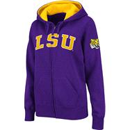 LSU Tigers Women's Purple Twill Tailgate Full-Zip Hooded Sweatshirt