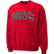 Louisville Cardinals Red Twill Arch Crewneck Sweatshirt