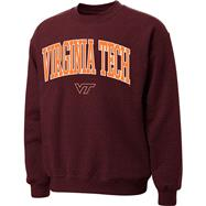 Virginia Tech Hokies Maroon Twill Arch Crewneck Sweatshirt