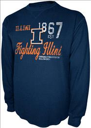 Illinois Fighting Illini Charcoal Gamebreaker Long Sleeve Thermal