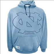 North Carolina Tar Heels Light Blue Faded Glory Sandblasted Hooded Sweatshirt
