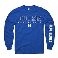 Duke Blue Devils Royal Disguise Basketball Long Sleeve T-Shirt
