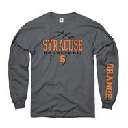 Syracuse Orange Charcoal Primer Basketball Long Sleeve T-Shirt