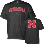 Nebraska Cornhuskers adidas Black Relentless T-Shirt