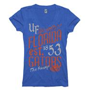 Florida Gators Women's Royal Landslide Ring Spun V-Neck T-Shirt