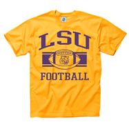 LSU Tigers Purple Wide Stripe Football T-Shirt