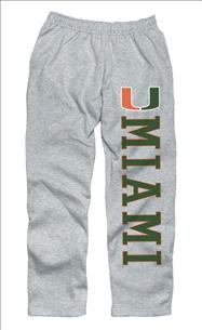 Miami Hurricanes Grey Couch Island Sweatpants