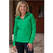 Notre Dame Fighting Irish Women's Lady Irish Kelly 1/4 Zip Raglan Pullover