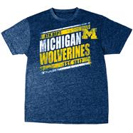 Michigan Wolverines Navy Heather Retro T-Shirt
