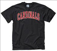 Louisville Cardinals Black Bold Arch Mascot T-Shirt