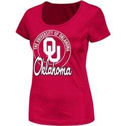 Oklahoma Sooners Cardinal Women's Champ Scoop Neck T-Shirt