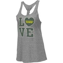 Oregon Ducks Heather Grey Women's Vintage Forget Me Knot Tri-Blend Tank Top