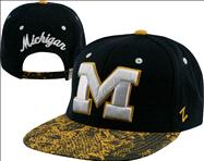 Michigan Wolverines Navy/Gold Snakeskin Strapback Adjustable Hat